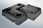 Trapezium rubber buffers