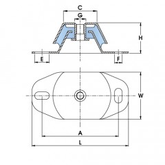 Polymax KMR Machinery Mount