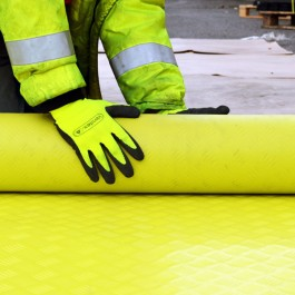 yellow safety walkway matting