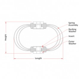 Marine Leaf Spring Mounts Technical Drawing