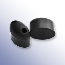 Oval Rubber Bump Stops Technical Drawing