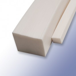Silicone Solid Square Strips White 8mm 60ShA at Polymax