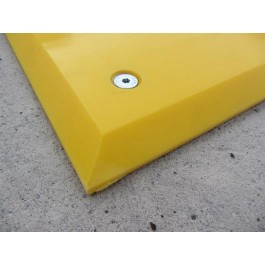 Close up of polyurethane trailer plate