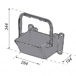 Large Wheel Chock Holder to suit Large Wheel Chock (1001012) Technical Drawing