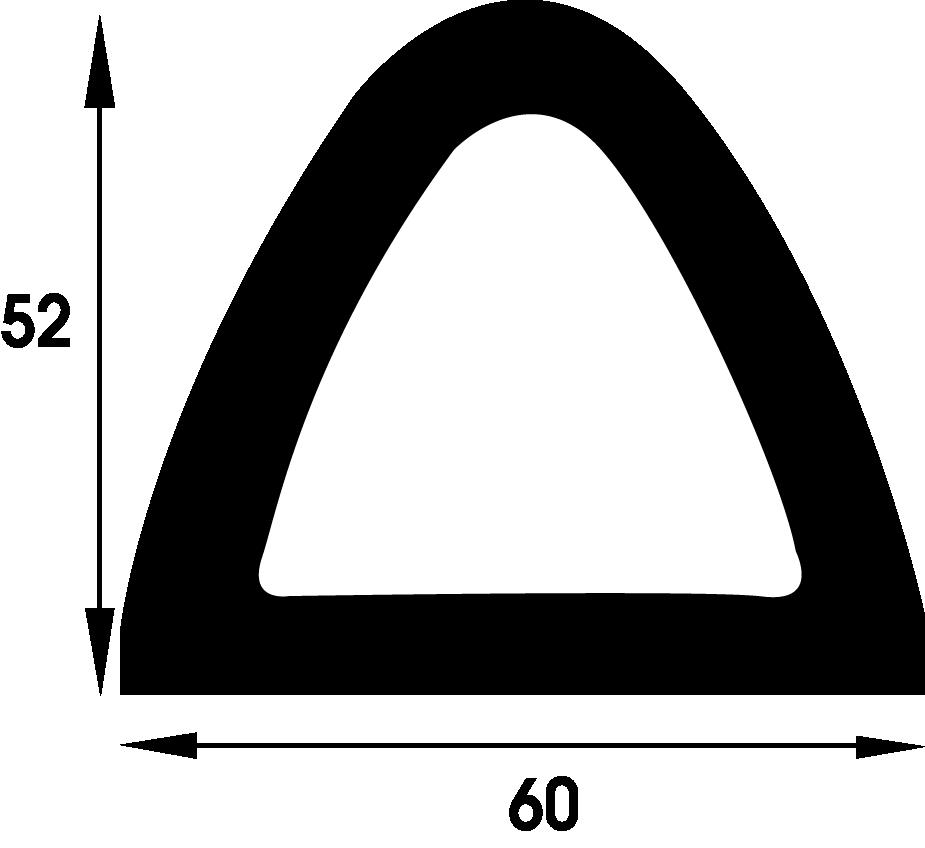Polymax Fender TPE 60mm X 52mm Black