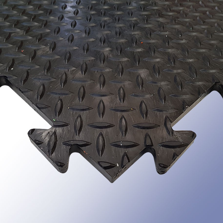 DIAMEX LOK Garage Tile Black 470mm x 470mm x 14mm