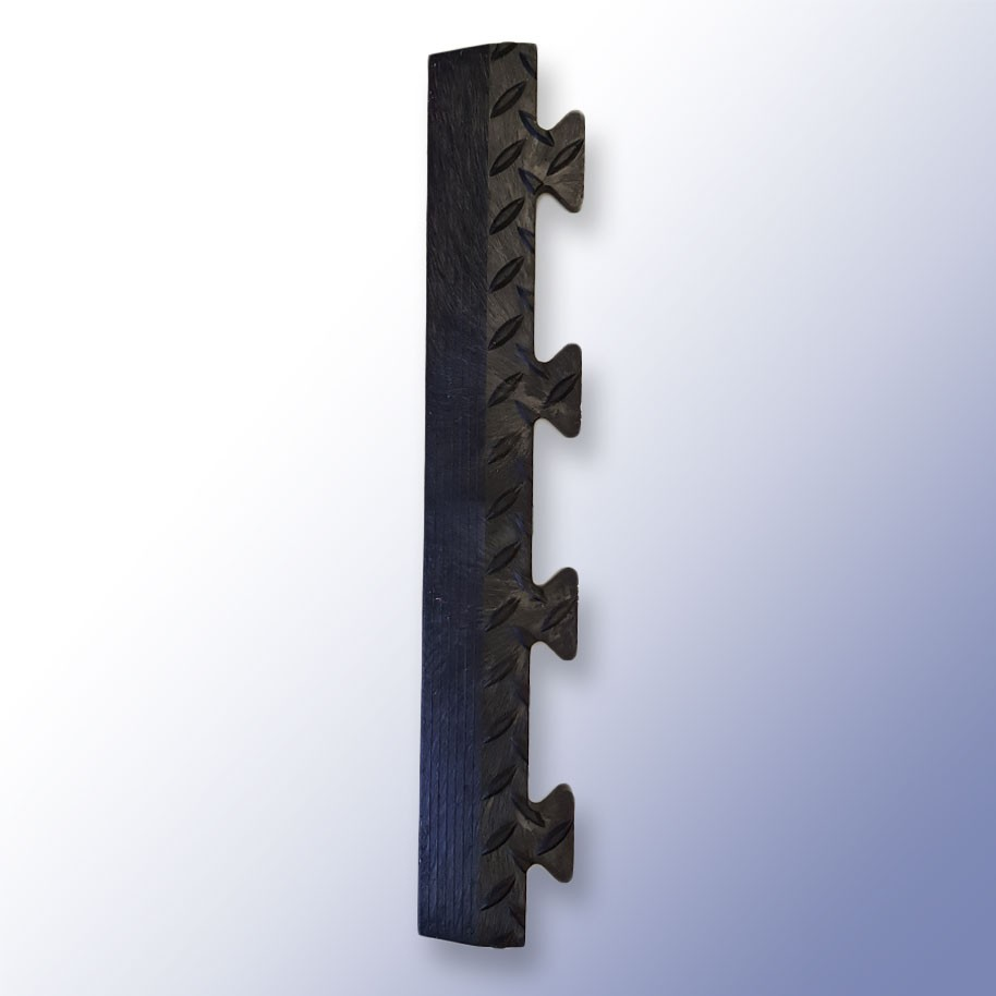 DIAMEX LOK Garage Tile Male Edge Black 500mm x 85mm x 14mm