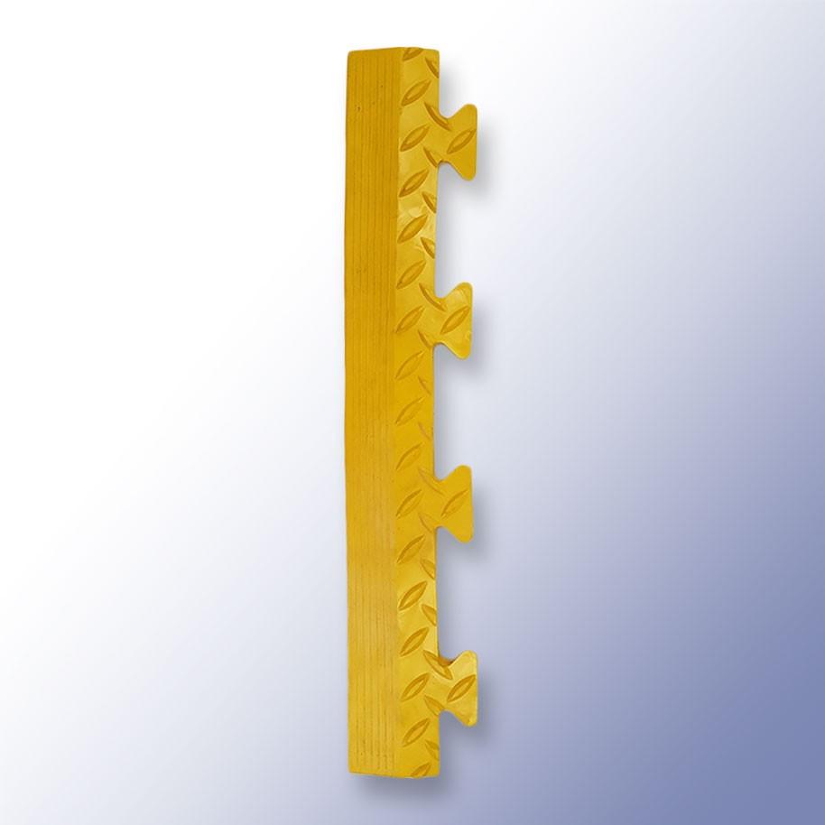DIAMEX LOK Garage Tile Male Edge Yellow 500mm x 85mm x 14mm